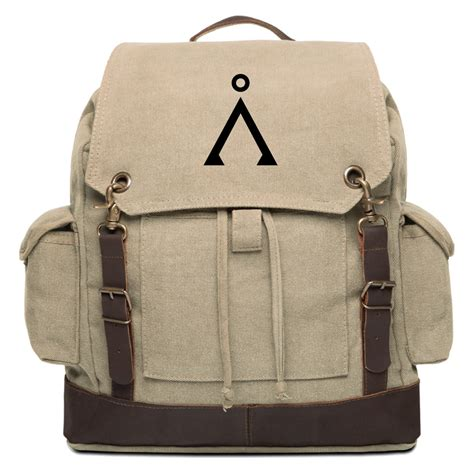 backpack with leather straps stargate earth vintage canvas rucksack backpack with leather straps ebay
