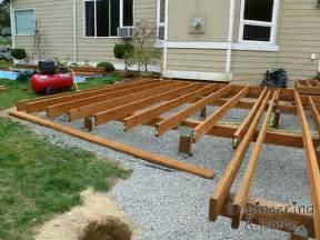 Patio Joist The Deck Joists Blocking Railing Posts Engineering A