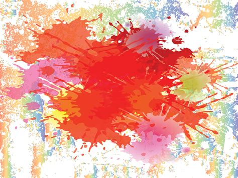 Colour Splashes On The Wall Powerpoint Templates Arts Orange Red Free Ppt Backgrounds And Artistic Powerpoint Templates