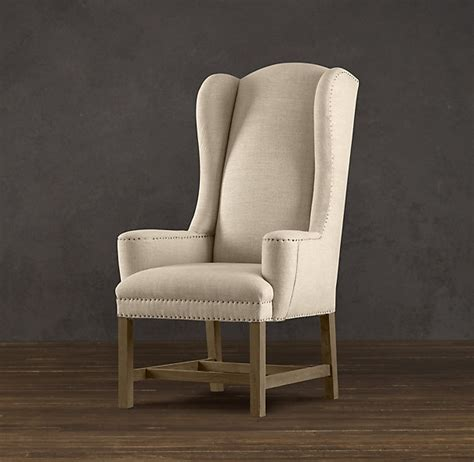 Wingback Dining Room Chairs 660 Each Belfort Wingback Upholstered Dining Chair Dinning Pinterest Restoration Hardware