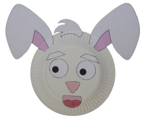printable animal crafts 9 best images of paper plate easter bunny mask printable