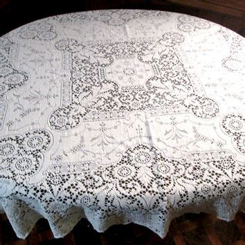 Shabby Table Cloth Pink Lace 2 madeira linen napkins set of 4 vintage from vintagelinens