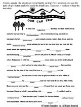 printable road trip mad libs car trip fill in the blank printable mad libs trips and