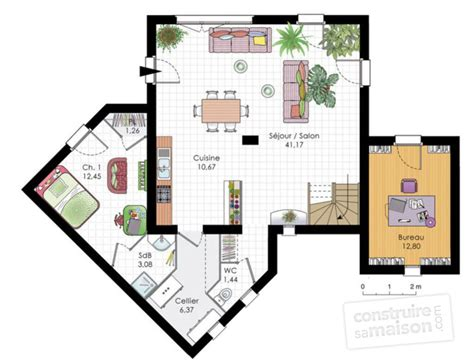 Duplex Blueprints by Maison Moderne D 233 Tail Du Plan De Maison Moderne Faire