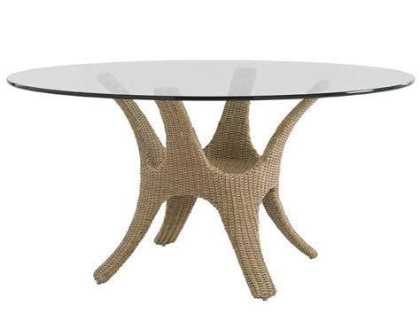 Wicker And Glass Dining Table Bahama Outdoor Aviano Wicker 60 Glass Top Dining Table 3220 870tbset