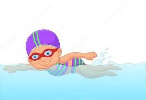 esta schwimmbad dessin anim 233 petit nageur fille dans la piscine image