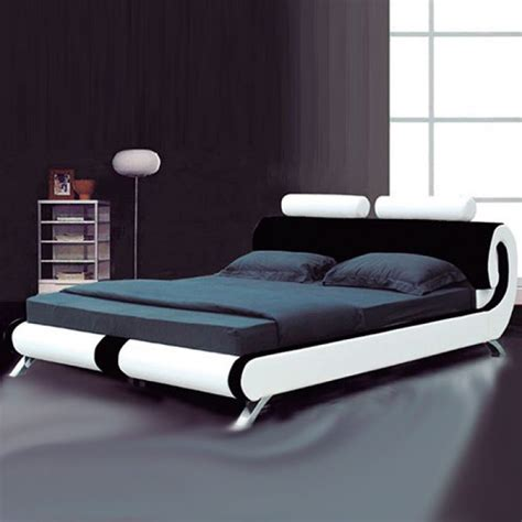 modern italian designer leather bed luxury leather