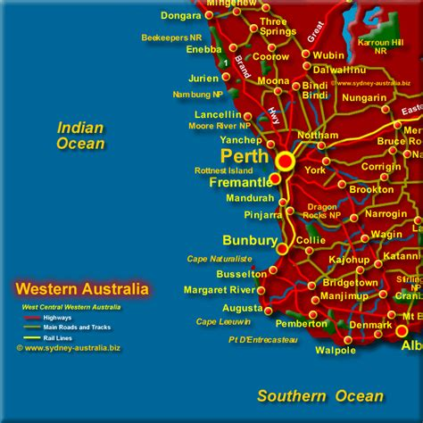 map of south west south west western australia map
