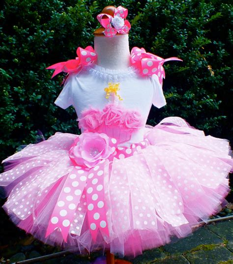 Set Tutu Setelan Tutu Anak pretty in pink polka dot birthday cupcake tutu set custom