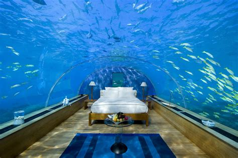 underwater bedroom in maldives cool underwater hotel suite