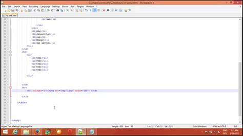 how to create table html how to put a picture in table using html and create a