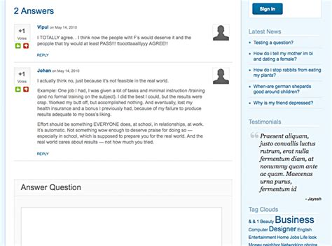 theme exles yahoo answers clone yahoo answers with answer theme for wordpress wp