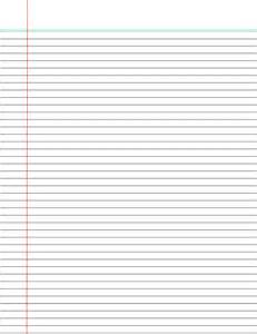College Ruled Lined Paper Template by Printable College Ruled Papers