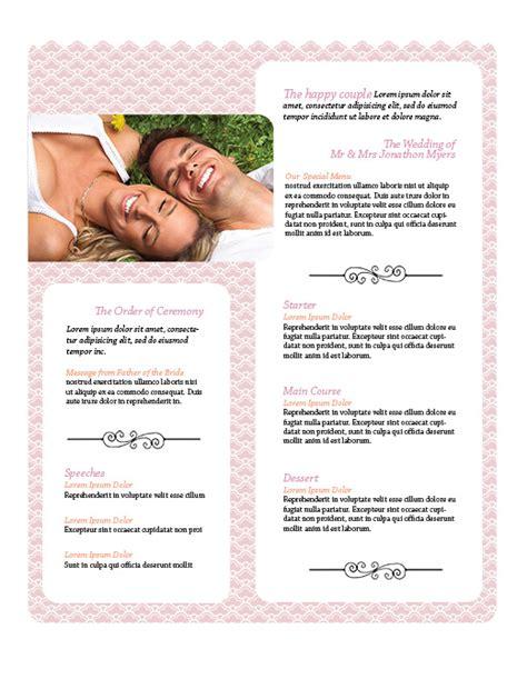 free wedding menu design photoshop templates nextdayflyers