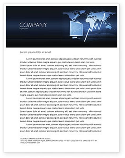 Finance Letterhead Templates Financial Review Letterhead Template Layout For Microsoft Word Adobe Illustrator And Other