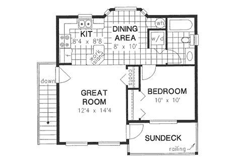 650 square foot house plans traditional style house plan 1 beds 1 baths 583 sq ft plan 18 4526
