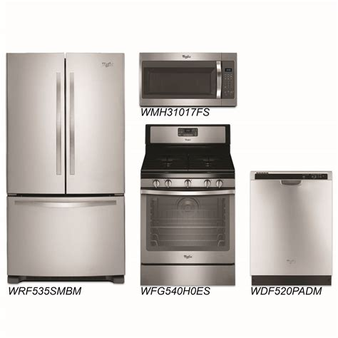 discount kitchen appliance packages discount package whirlpool 4 piece stainless steel