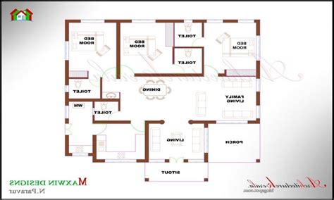 4 bedroom single house plans single floor 4 bedroom house plans kerala awesome home