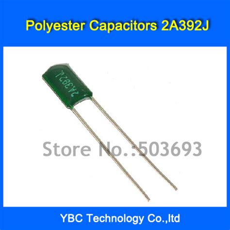 polyester pf capacitor free shipping 500pcs lot polyester capacitor 2a392j 100v 3 9nf 3900pf in capacitors from