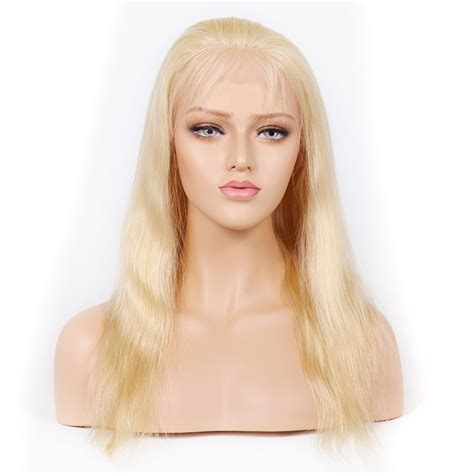 blonde wig colours blonde 613 color glueless full lace wigs peruvian virgin