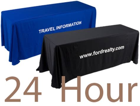 custom printed table skirts custom table covers skirts personalized logos graphics