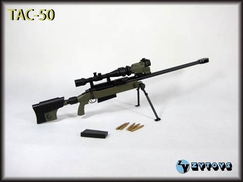 zy toys 1 6 scale us tac 50 sniper rifle green fit for 12