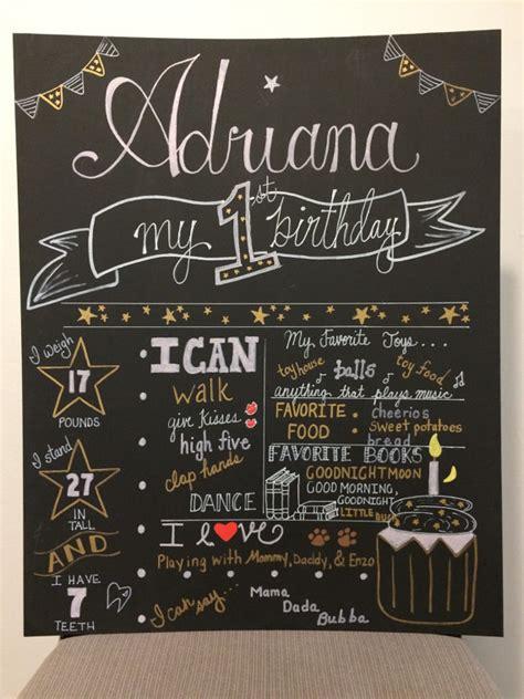 chalkboard paint on poster board painted birthday chalkboard poster