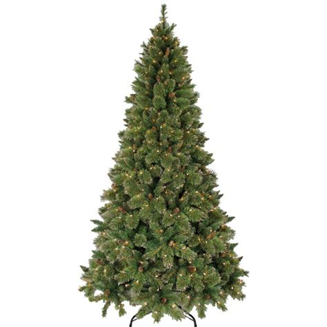 christmas trees for sale at wal mart time pre lit 7 5 gold glitter artificial tree clear lights walmart