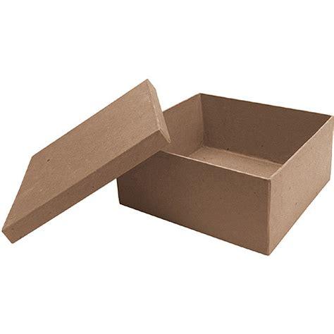 Paper Mache Craft Boxes - paper mache square box 7 quot x7 quot x3 quot walmart