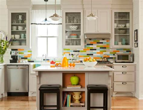 multi colored subway tile backsplash want bold colors install blue glass subway tile backsplash