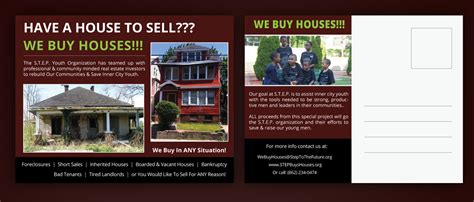 we buy houses postcards postcard design for ibrahim hughes by uniquedesign10 design 5084516