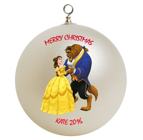 personalized beauty and the beast christmas ornament gift
