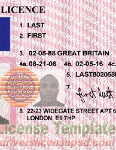 Uk Driving License Template by Drivers License Drivers License Drivers License