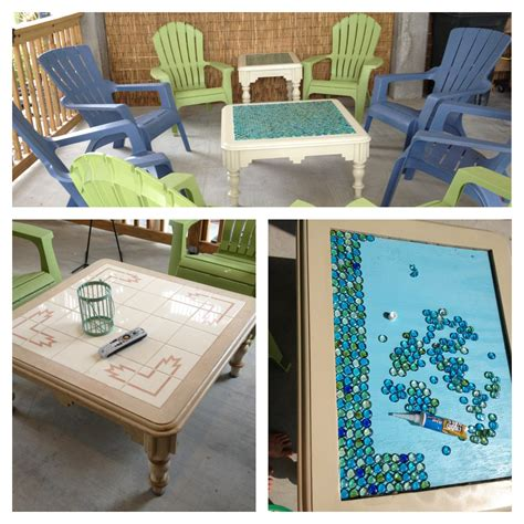 dollar tree table diy refurbished coffee end table using dollar tree quot sea