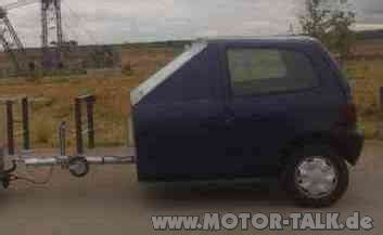 Kann Ich Mein Auto In Einer Anderen Stadt Anmelden by Unikat Anh 228 Nger Aus Einem Twingo Einen Twingo Anh 228 Nger
