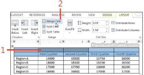 cara membuat tabel merge html cara menggabungkan merge dan membagi split cell tabel