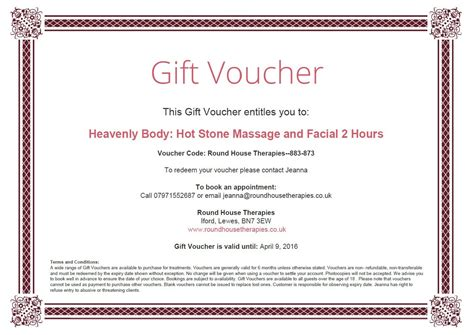 Gift Vouchers Gift Voucher Terms And Conditions Template