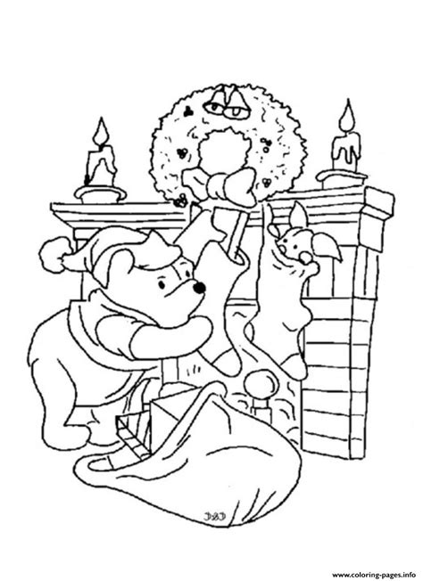 coloring pages winnie the pooh christmas winnie the pooh christmas coloring pages coloring home