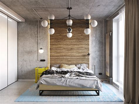 Industrial Bedroom Decor by Yellow And Blue Industrial Bedroom Decor Interior Design