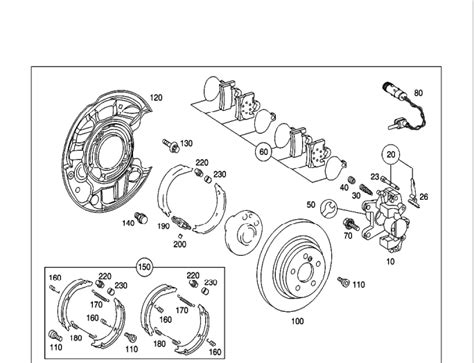 Cover Untuk Mercy C270 Cdi parking brake assembly help mbworld org forums