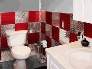 Garage Bathroom Ideas And Silver 4 X8 Plate Aluminum Wall Tiles