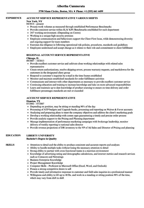 Account Representative Resume by Account Service Representative Resume Sles Velvet