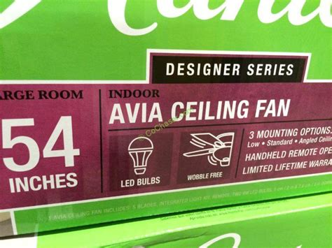 hunter avia 54 led indoor ceiling fan hunter avia ceiling fan model 59234 costcochaser