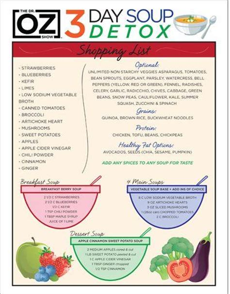 Wedding Week Detox by Health And Dr Oz S 3 Day Souping Detox One Sheet