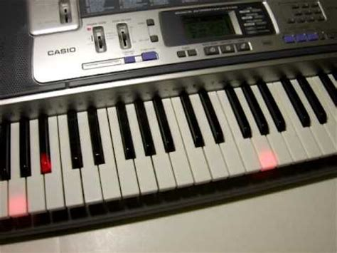 tutorial for casio keyboard casio lk 100 keyboard demo youtube