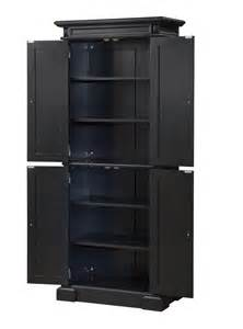 Black Kitchen Pantry Cabinet by Home Styles Americana Black Pantry 5004 694