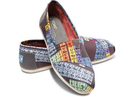 toms periodic table shoes periodic table s vegan classics from toms clothes