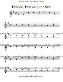 Free flute sheet music twinkle twinkle little star in g