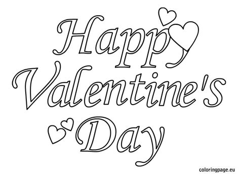 Happy Valentines Day Coloring Pages free coloring pages of s day