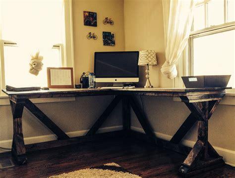 Diy Corner Desk Using Ana White Fancy X Desk Plan White Office Corner Desk